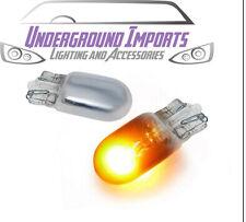 Chrome Dipped T10 501 Capless Wedge Side Repeater Bulbs x2 Flash Orange FREE P&P
