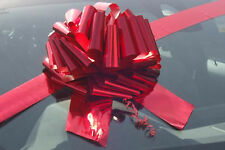 "BIG GIANT CAR BOW (12"") for Cars, Large Birthday & XMAS Gifts - METALLIC RED"