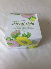 Avon Floral Light Green Fragrance Candle New In Box