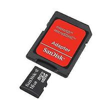 SanDisk 16GB MicroSDHC Memory Card with adapter - SDSDQM-016G-B35A class 4