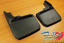 2007-2018 Jeep Wrangler JK Rear Molded Splash Guards Mud Flaps Mopar OEM