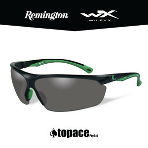Remington RE500 Shooting/Safety Glasses - Black/Green Frame - Smoke Lens