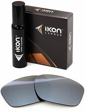 Polarized IKON Iridium Replacement Lenses For Oakley SLIVER XL - Silver Mirror