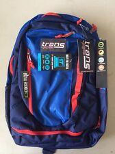 """JanSport Trans By Jansport Capacitor Backpack Navy Blue / Red 17"""" Digital"""