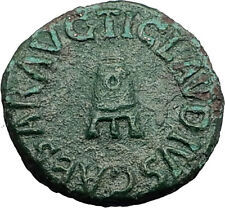 CLAUDIUS 42AD Rome Quadrans Modius Original Authentic Ancient Roman Coin i59181