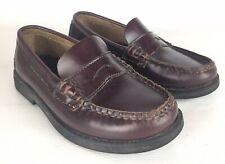 Colton 12.5 Boy's Sperry Topsiders Penny Loafers Burgandy Leather