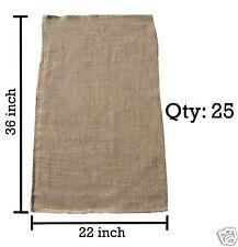 (25) 22x36 Burlap Bags Wholesale Bulk - Sacks Potato Race Sandbags Home Depot