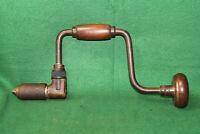 Good User Vintage Woodworking Brace Hand Bit Drill U.S.A Inv#RK23