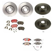 Audi A4 A5 Quattro Q5 Front and Rear Disc Rotors with Brake Pads Brembo NEW