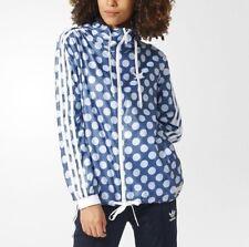 Adidas Originals Womens Tokyo Windbreaker Jacket Hoodie Full Zip UK 12