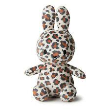 Nijntje & Miffy Hase Bon Ton Toys sitzend allover Leoparden Print offwhite 23 cm