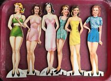 Vintage 1940s Paper Pin-Up Style Female Dolls