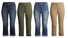 Time and Tru Women's Modern Mid-Rise Capri Pants