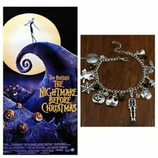 Nightmare Before Christmas, Halloween Charm Bracelet, Snowflakes