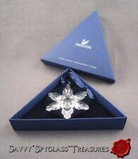 Mib Swarovski Crystal Snowflake Star Christmas Ornament Annual for 2008