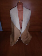 New Womens Plus Size 2X Absolutely Famous Trendy Beige Tan Sweater Vest Fur @@