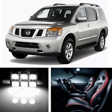 18pcs LED Xenon White Light Interior Package Kit for Nissan Armada 2005-2015