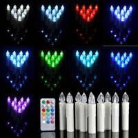 10PCS Christmas Flameless Color LED AA/AAA Tea Candle Light Wedding Party+Remote