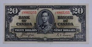 Bank of Canada - 1937 - $20 Bank Note - BC-25c - Light Circulated