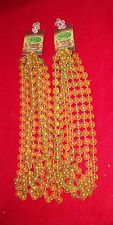 Enchanted Forest Translucent Gold & Purple Beaded Garland- 18'