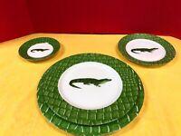"""Deshoulieres Porcelain, """"Alligator Alley"""", Limoges, France, Full Service 12 (A)"""