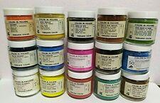 colori in polvere OSSIDI, TERRE,  PIGMENTI - VARI COLORI - 100 ml ferrario