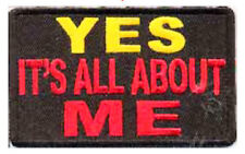 Iron On/ Sew On Embroidered Patch Badge Yes Its All About Me