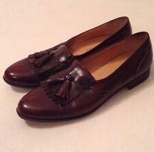 SALVATORE FERRAGAMO Mens Cherry Leather Oxford Dress Shoes Size 10.5 A EUC