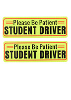 2 Pack New Driver Please Be Patient Bumper magnet Sticker Student Drive Decal