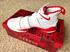 Nike mens LEBRON Soldier XI TB Promo WHITE/RED 943155 114 SIZE 10 (28CM)