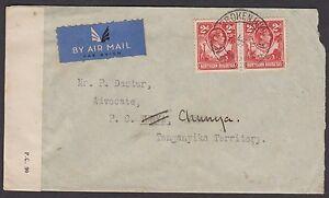 Northern Rhodesia 1942 Walton, Barrister cover sent airmail to Tanganyika