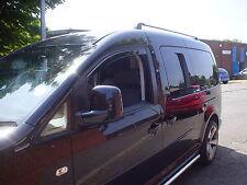 31127 HEKO Wind & Rain Deflectors VW Caddy 2K Van 2005>2012 Front Pair Uk Stock