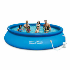 New listing Summer Waves 10 Ft x 30 In Quick Set Pool Inflatable Ring With Pump Fast Free 🚛