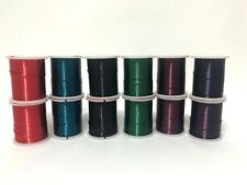 Beading Wire 26 / 28 Gauge x12 Rolls Asst Colours 24yard Rolls Jewellery Making