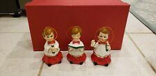 Set of 3 MR. CHRISTMAS Alter Choir Boy Porcelain Ornaments Vintage Look