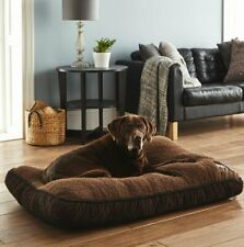Medium Luxurious Brown Pet Cats/Dogs Pillow Bed Sofa Home Snooze Non-Slip Soft