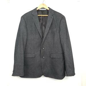 Sportscraft Mens Blazer Jacket Sport Coat Grey Gray Herringbone Size 44/ 108