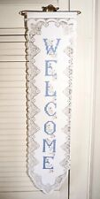 Lace Welcome Sign Wall Hang Cross Stitch print Vintage Tea Room Heritage Lace US