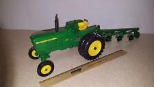 Toy ERTL John Deere 3020 tractor with 4 bottom plow