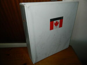 CANADA 1859 - 1982 STAMPS COLLECTION ON LEAVES IN BINDER