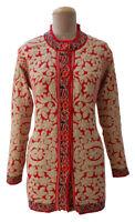 Winter Knitted Designer Cardigan Jumper Size 10 12 14 S23