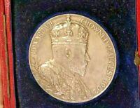 1902🔹️Large Silver Medal of King Edward VII & Alexandra 'Coronation' 56mm