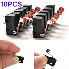 10pcs Micro Roller Lever Arm Open Close Limit Switch Kw12-3 PCB Microswitch Hot