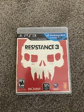 Resistance 3 PS3 Playstation 3 Complete In Box CIB With Manual Game