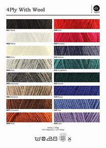DY Choice 4ply with Wool - 100g- 75% Acrylic, 25% Wool