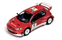 IXO RAM116 RAM129 PEUGEOT 206 WRC diecast model rally cars Panizzi/Gronholm 1:43