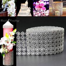 "4""X 10 Yards Diamond Mesh Bling Ribbon Wrap Daisy Flower  Wedding Cake Candle"