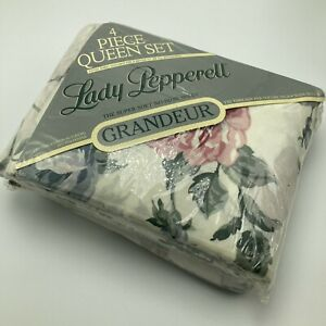 Lady Pepperell Queen Sheet Set Sweet Briar Floral Roses
