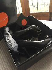 karen millen Black Leather Pony Skin Shoes 37 4 New Stunning