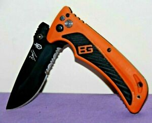 Gerber Bear Grylls 4040714D Combination One Blade Pocket Knife-- Great Condition